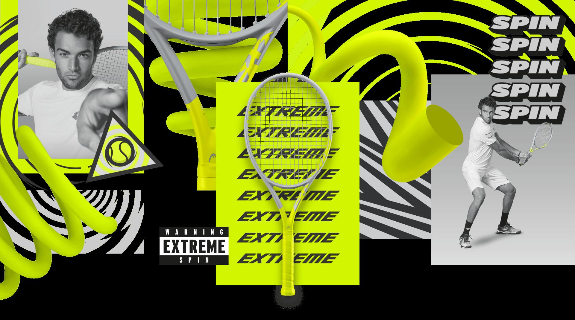 Die neue HEAD Extreme Racquet-Serie für Spin